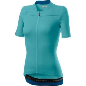 Castelli Anima 3 Jersey Korte Mouwen Dames, celeste/marine blue